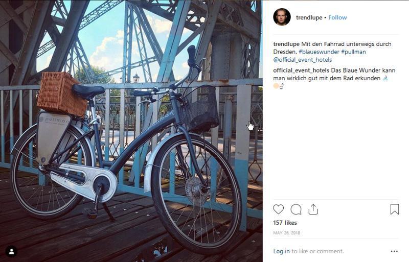 Instagram Radtour Dresden © Trendlupe