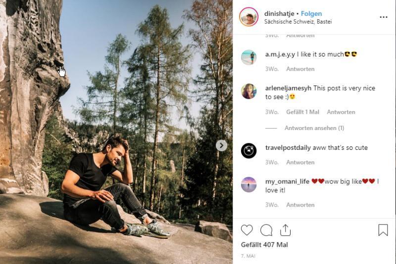 Instagram Beitrag Dinis Hatje © Carina & Dinis