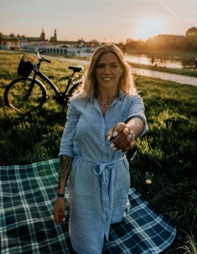 Dresden Urlaub - Picknick an der Elbe © Carina & Dinis